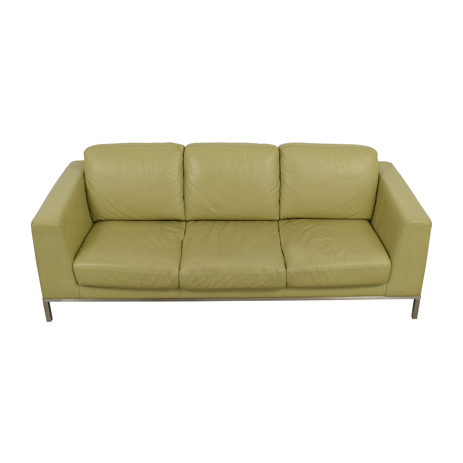 ... Italsofa Green Leather Sofa Sale ...