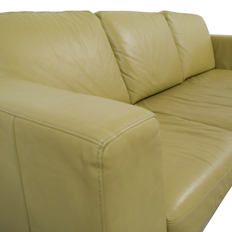 26 Off Italsofa Italsofa Green Leather Sofa Sofas