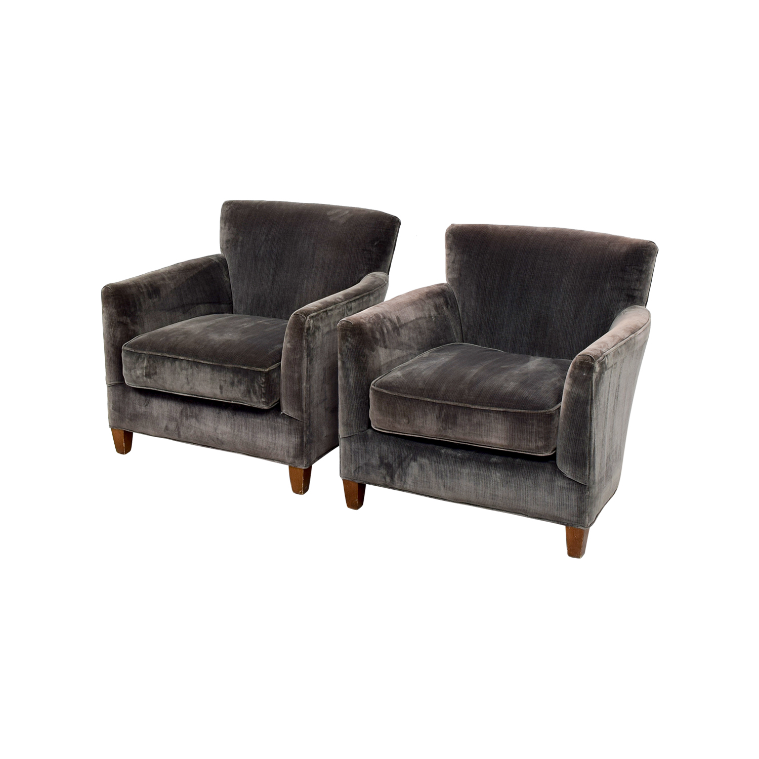 Lee Lee Dark Green Velvet Accent Chairs / Chairs