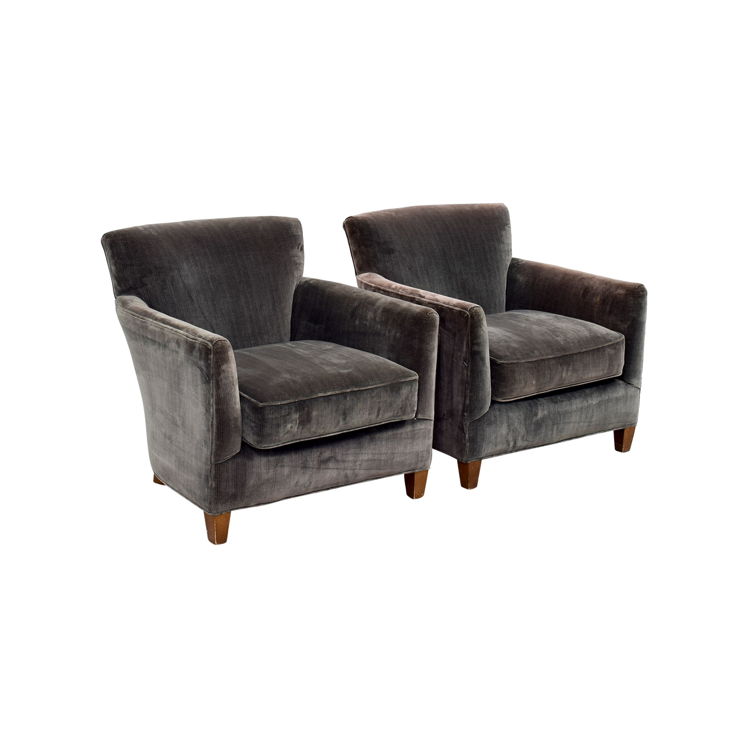 ... Lee Dark Green Velvet Accent Chairs Lee ...
