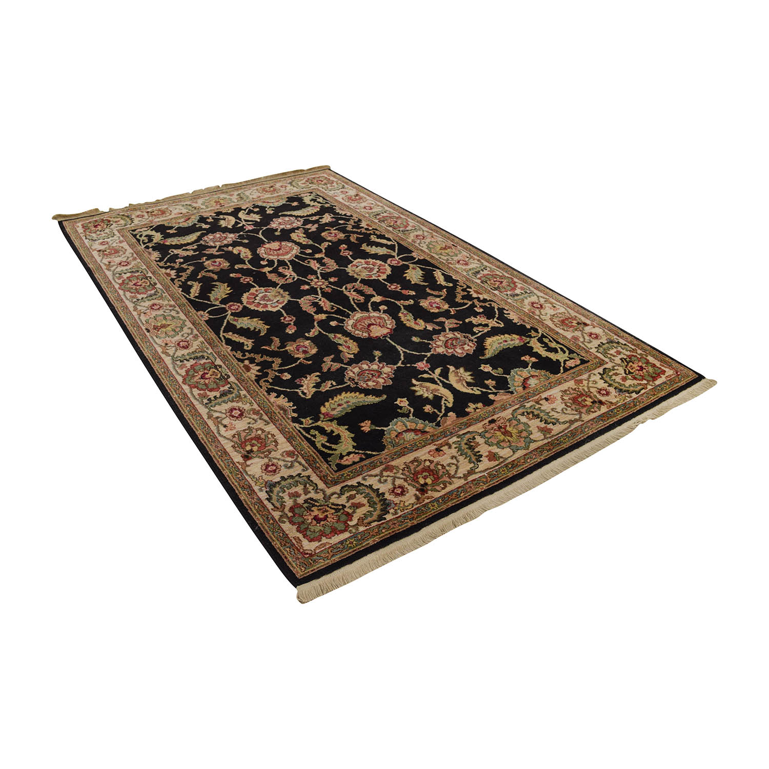 Black Flora Multi Colored Rug Coupon