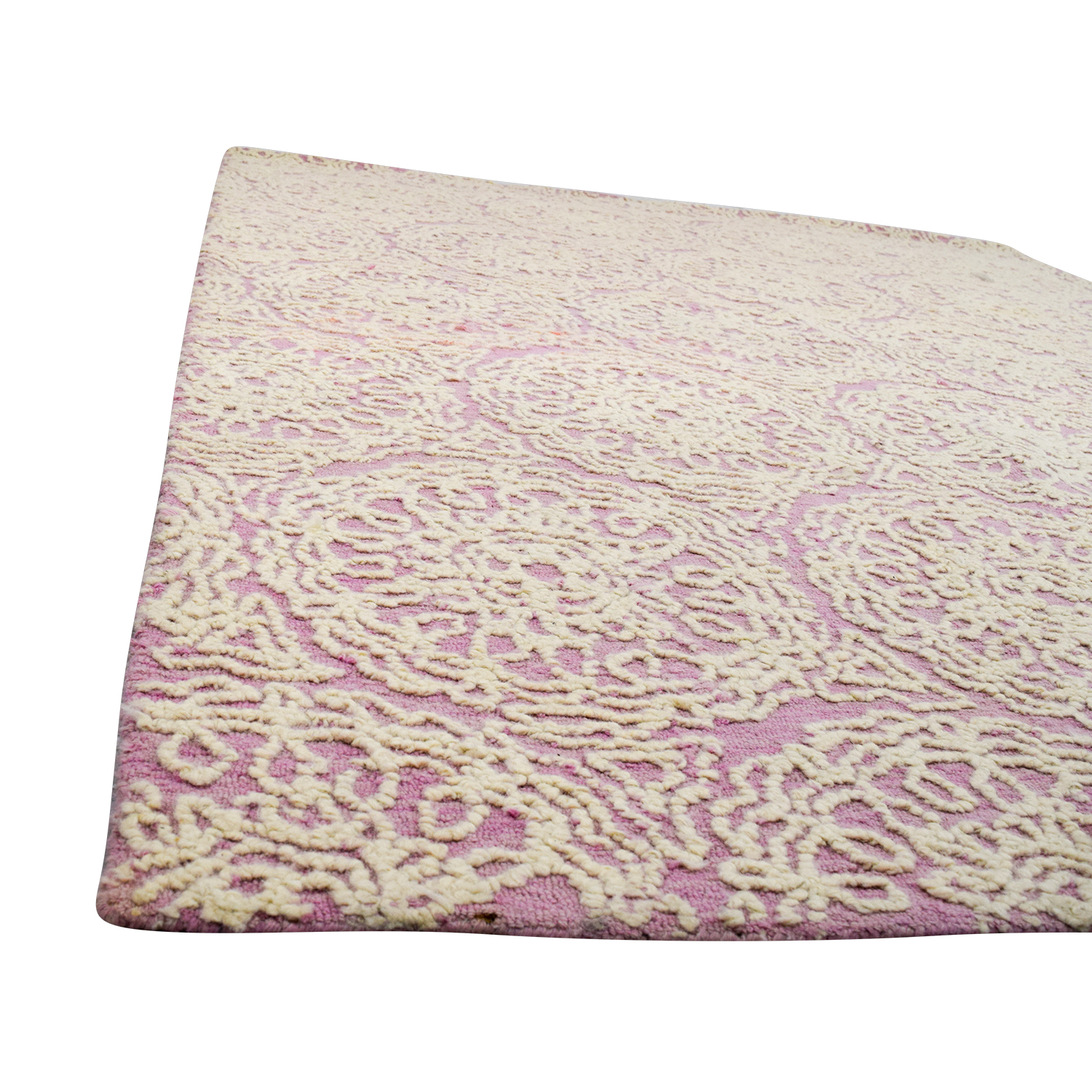 90 Off Pottery Barn Pottery Barn Audrey Pink Wool Rug