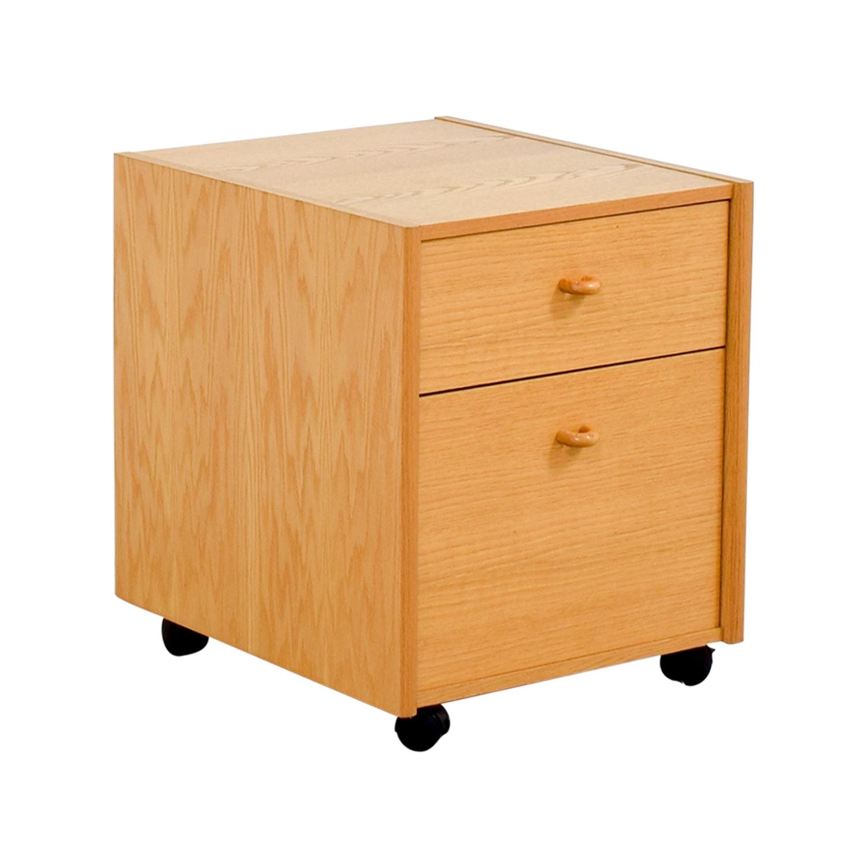 Oak Filing Cabinet on sale