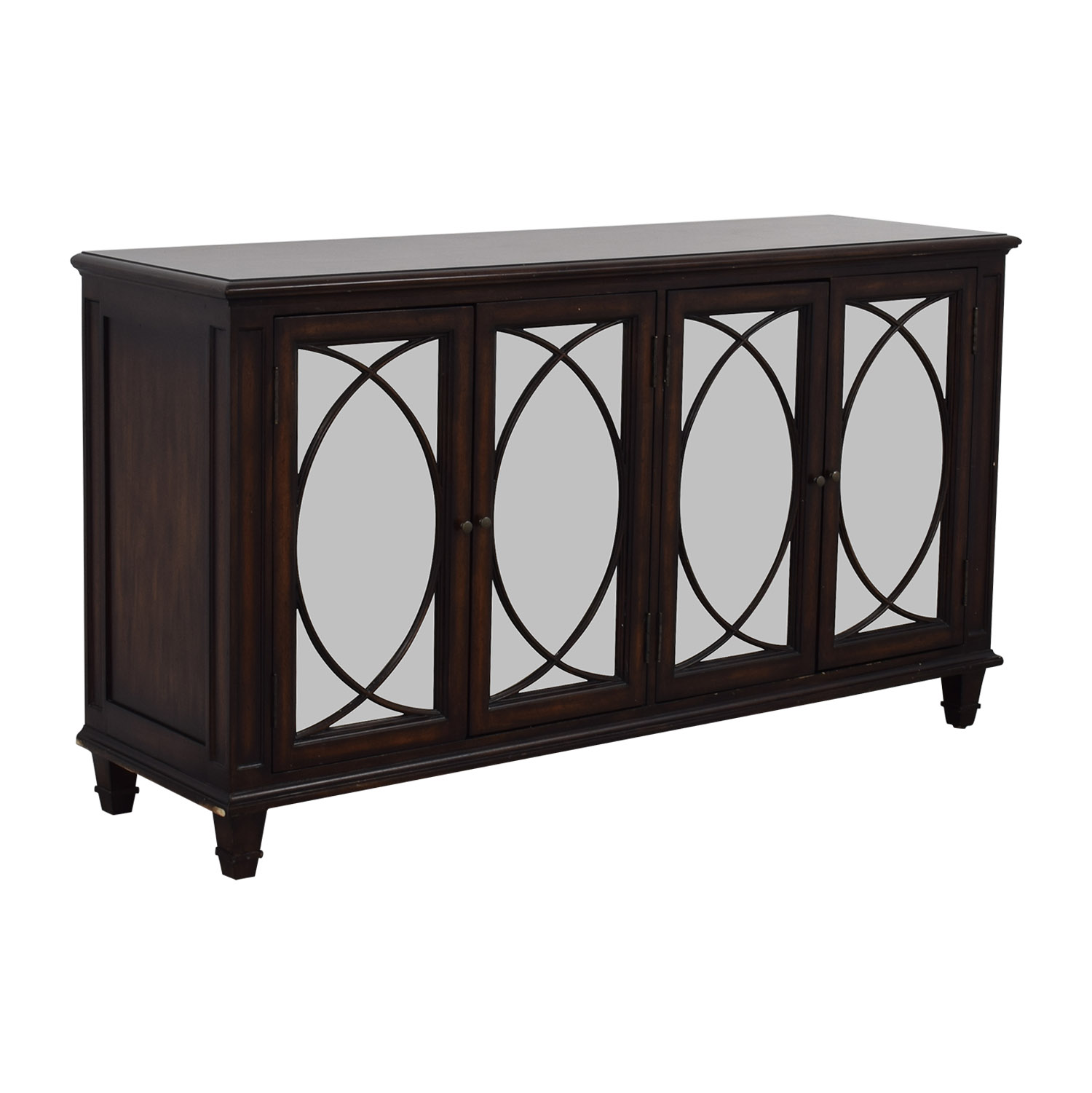 72 off ethan allan ethan allen brandt mirrored buffet storage - Ethan allen buffet table ...
