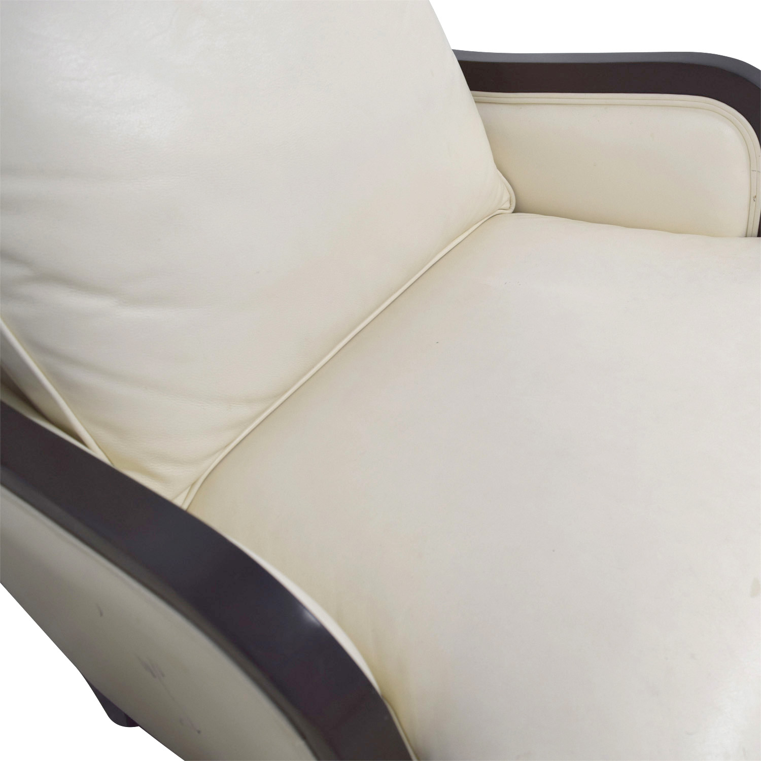 58% OFF Ethan Allen Ethan Allen Palma Ivory Leather Chairs with