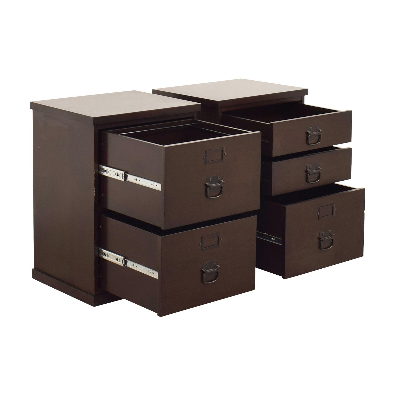 82 off pottery barn pottery barn wood file cabinets storage. Black Bedroom Furniture Sets. Home Design Ideas
