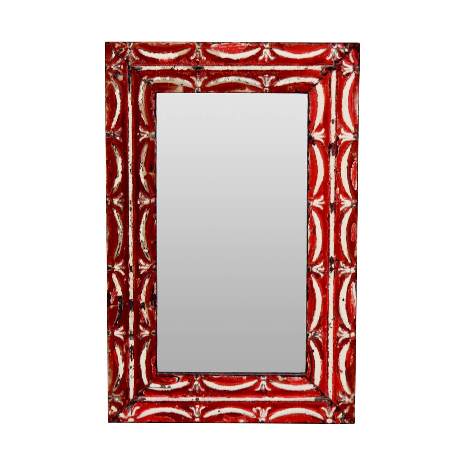 buy Olde Good Things Antique Red Tin Frame Mirror Olde Goode Things