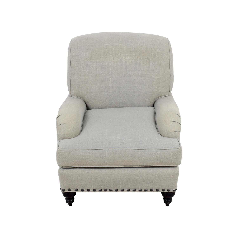 Miraculous Arhaus Furniture Chair With Ottoman 90 Off Arhaus Arhaus Customarchery Wood Chair Design Ideas Customarcherynet