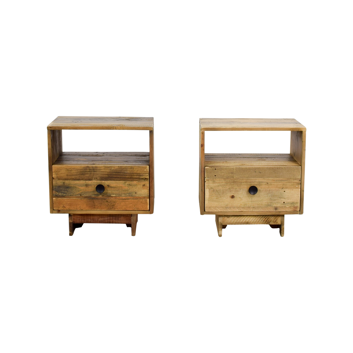 buy West Elm Emmerson Natural Reclaimed Wood Nightstand West Elm End Tables