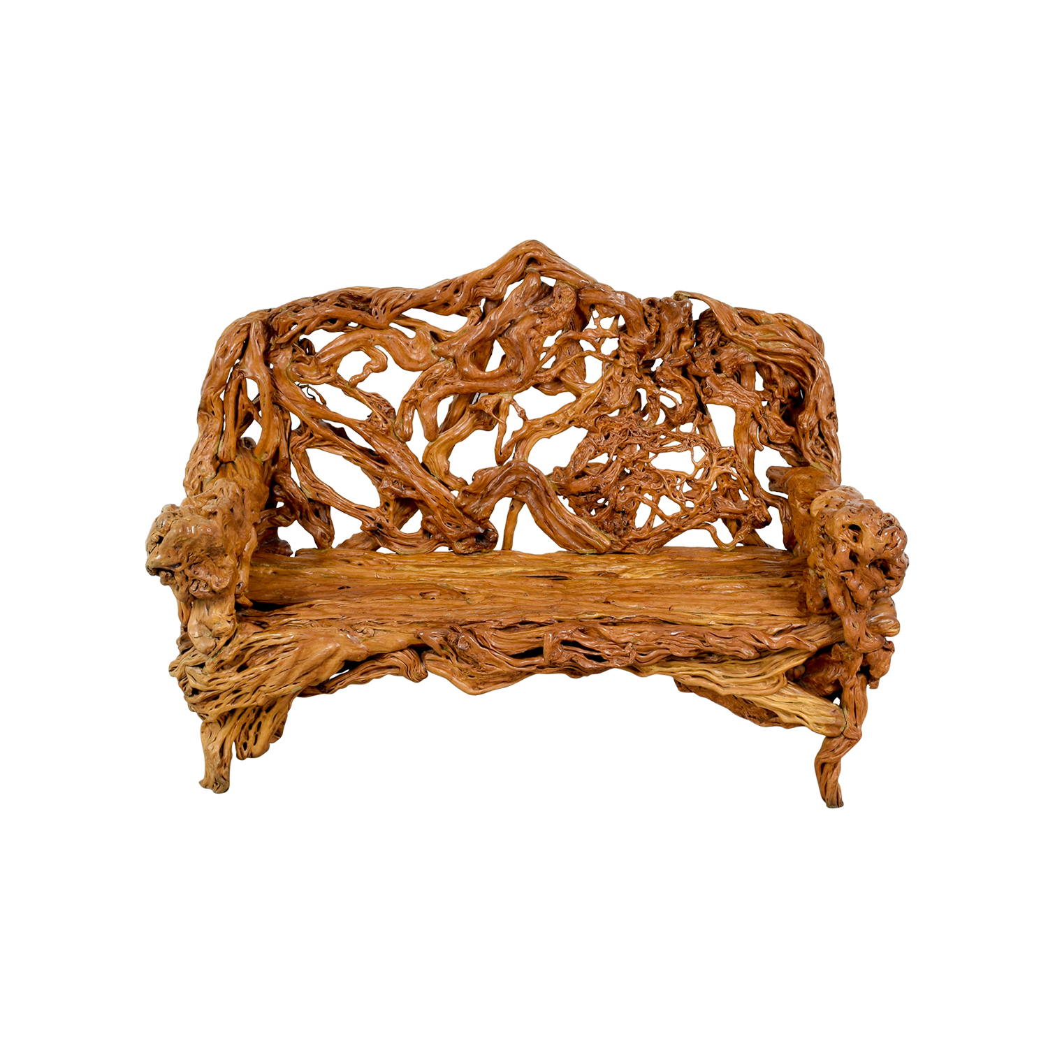 Natural Wood Bench on sale