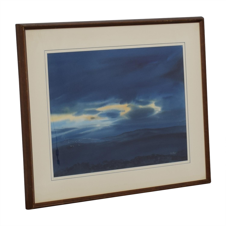 buy Don Harris Framed Don Harris Water Color Sunrise online