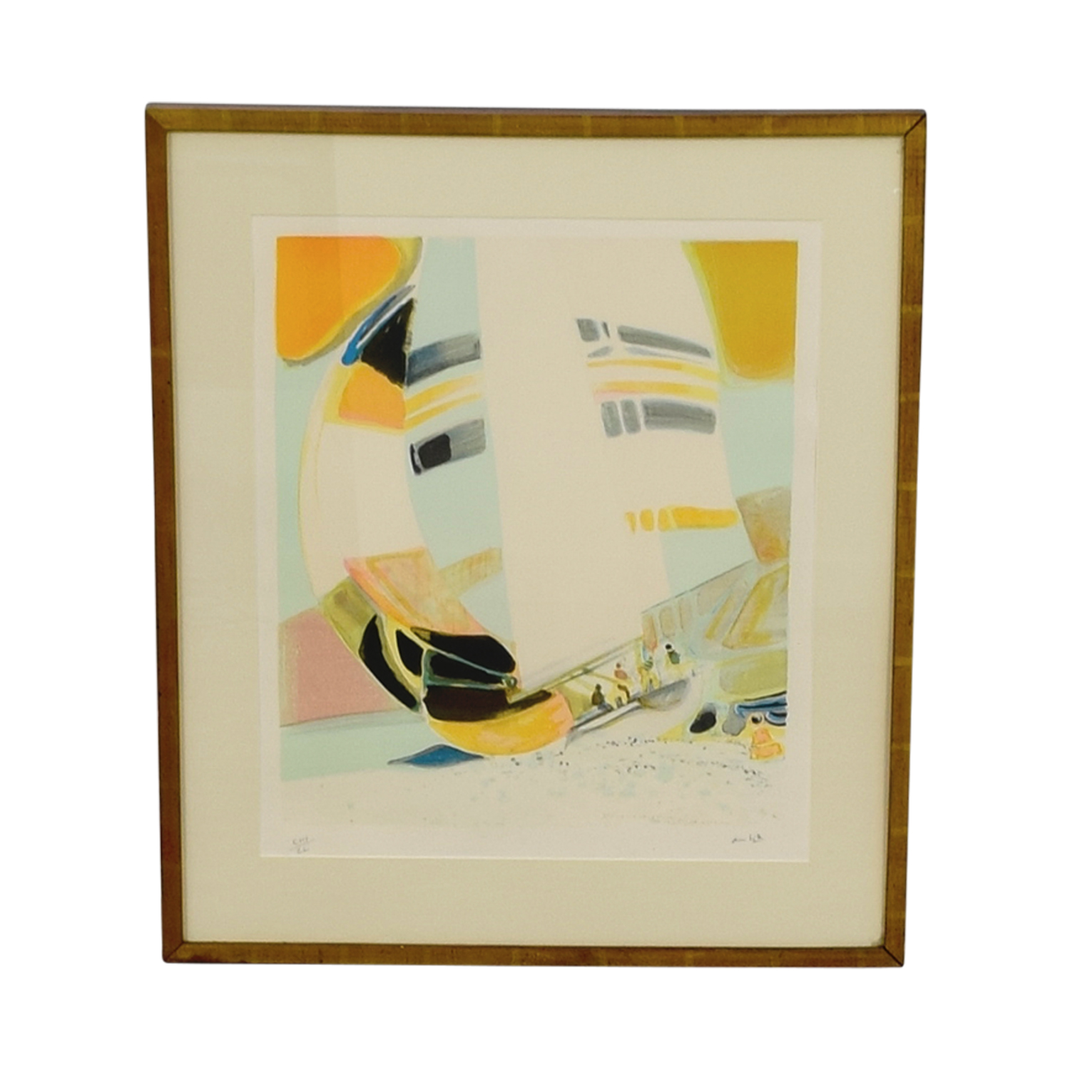 shop Framed Amhil Sailboat Lithograph Wall Art