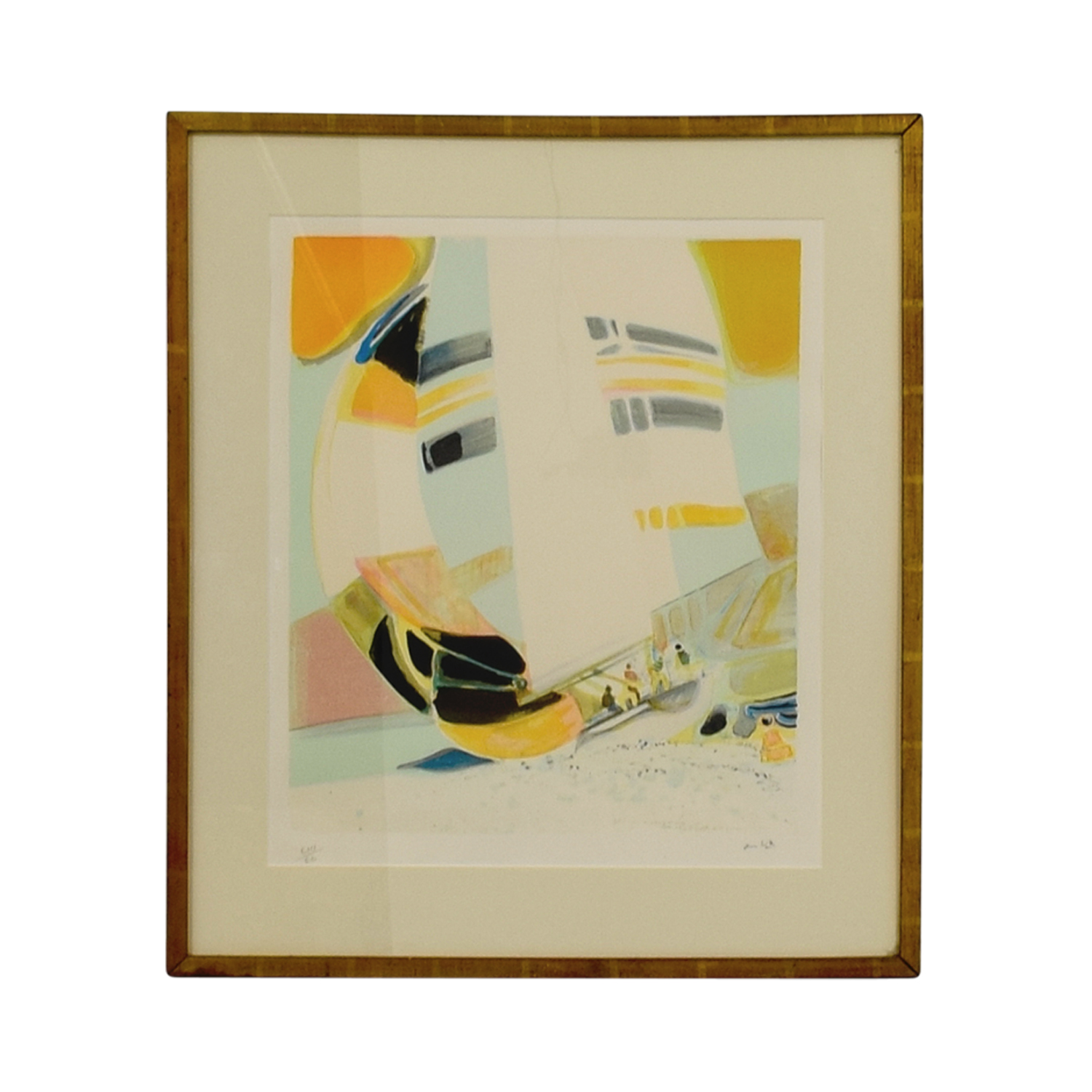 Framed Amhil Sailboat Lithograph / Wall Art