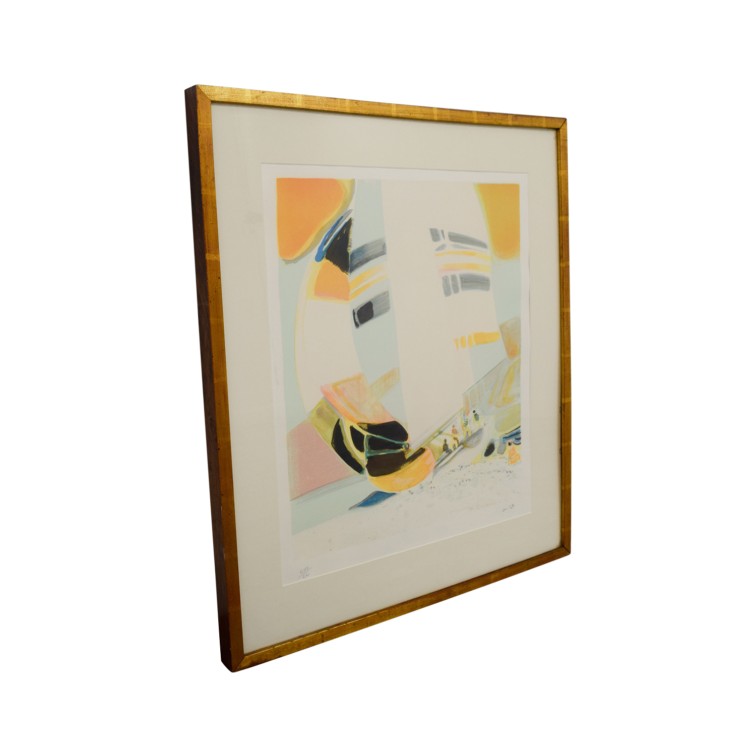 Framed Amhil Sailboat Lithograph