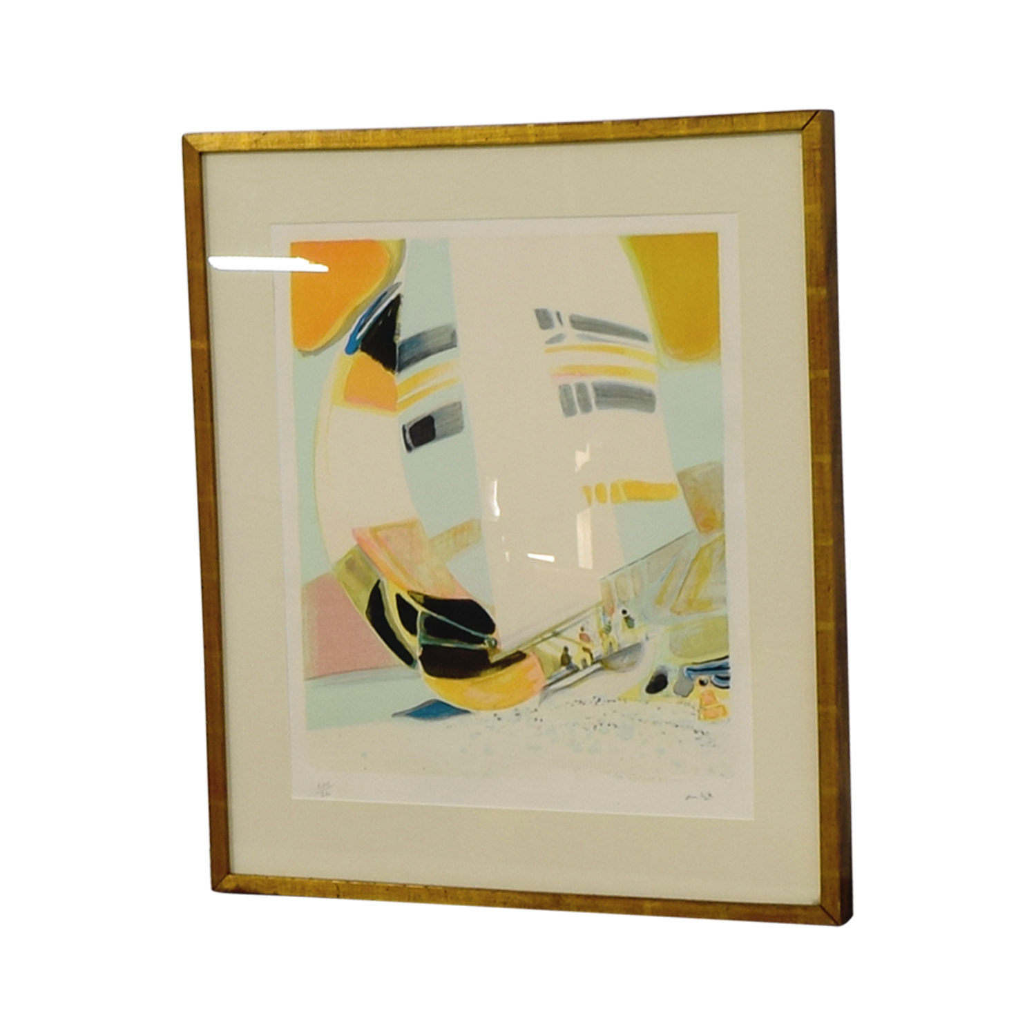 Framed Amhil Sailboat Lithograph dimensions