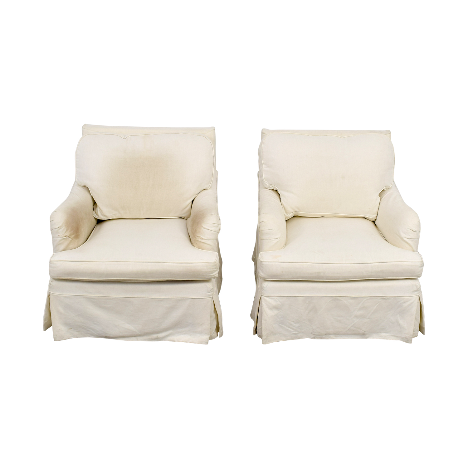 ... William Farrell William Farrell Upholstered Swivel Arm Chairs On Sale  ...