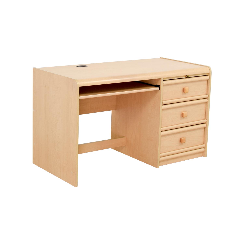 Palliser Three Drawer Desk With Keyboard Shelf Online