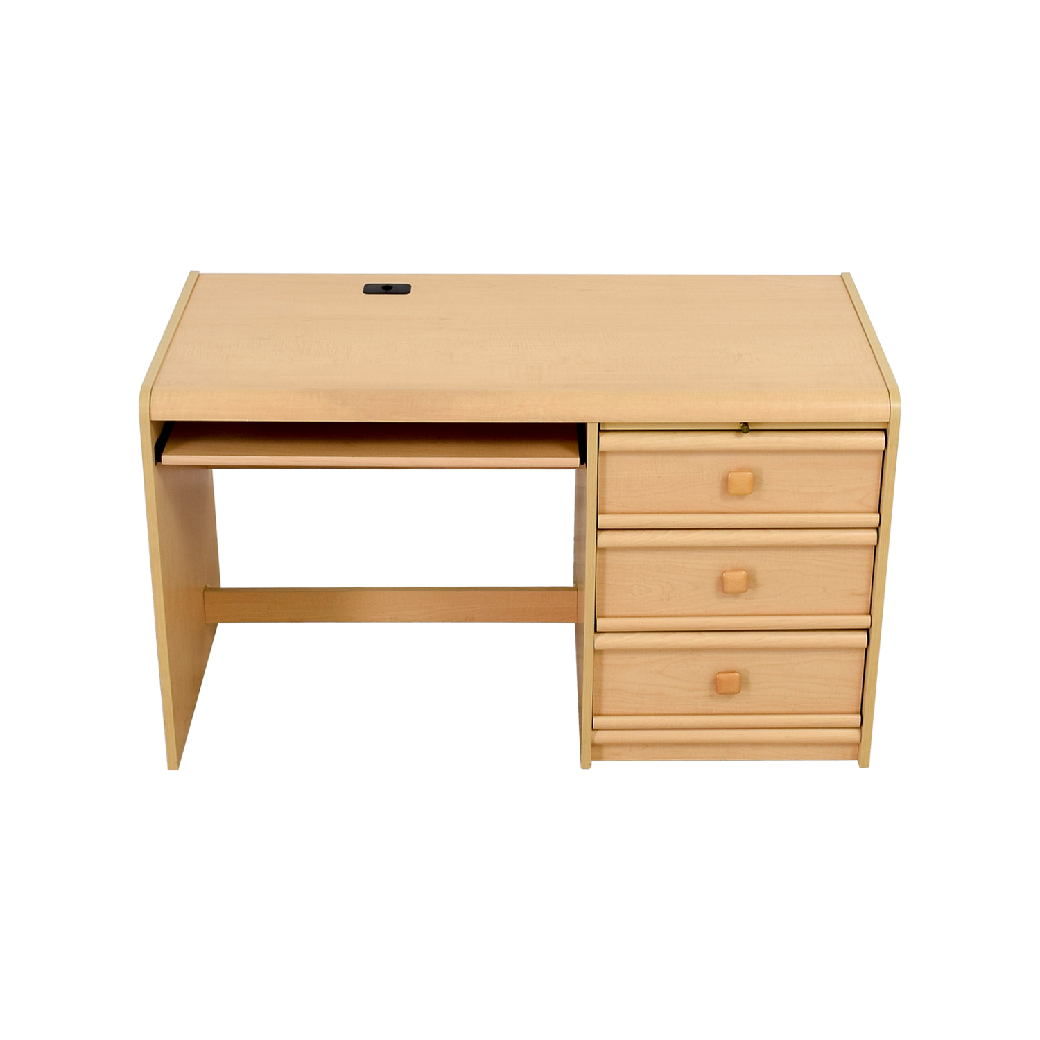 buy Palliser Three-Drawer Desk with Keyboard Shelf Palliser