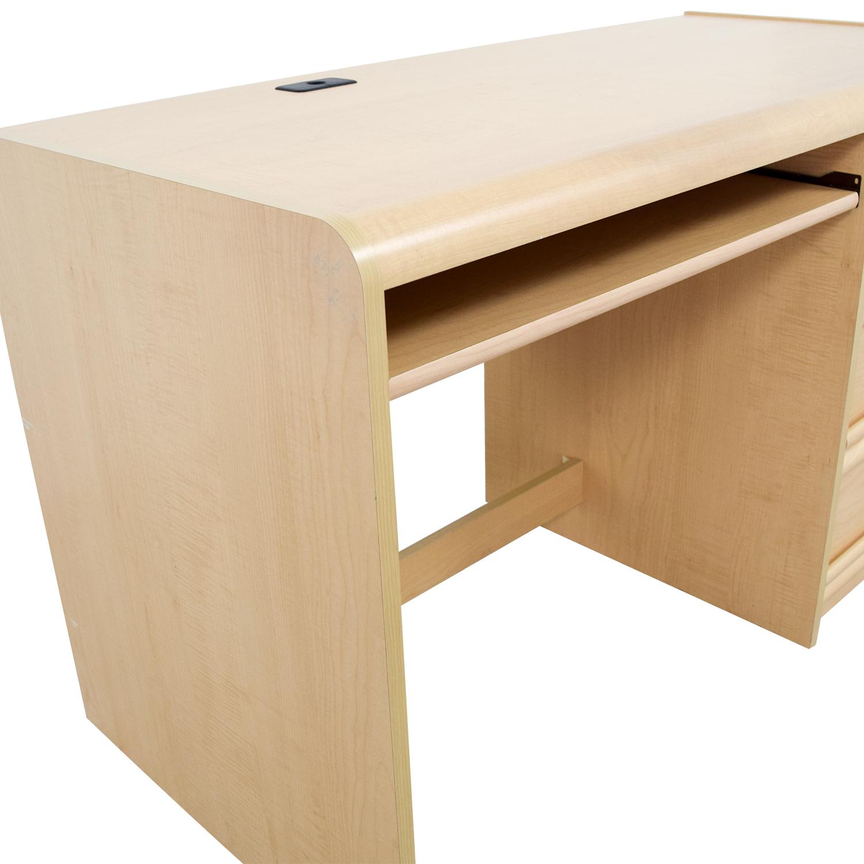 Palliser Three Drawer Desk With Keyboard Shelf