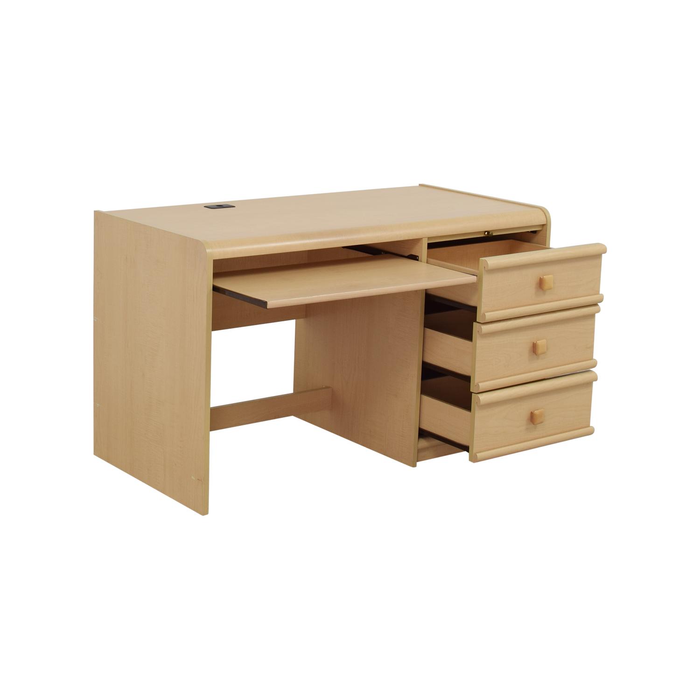 Palliser Three Drawer Desk With Keyboard Shelf Second Hand
