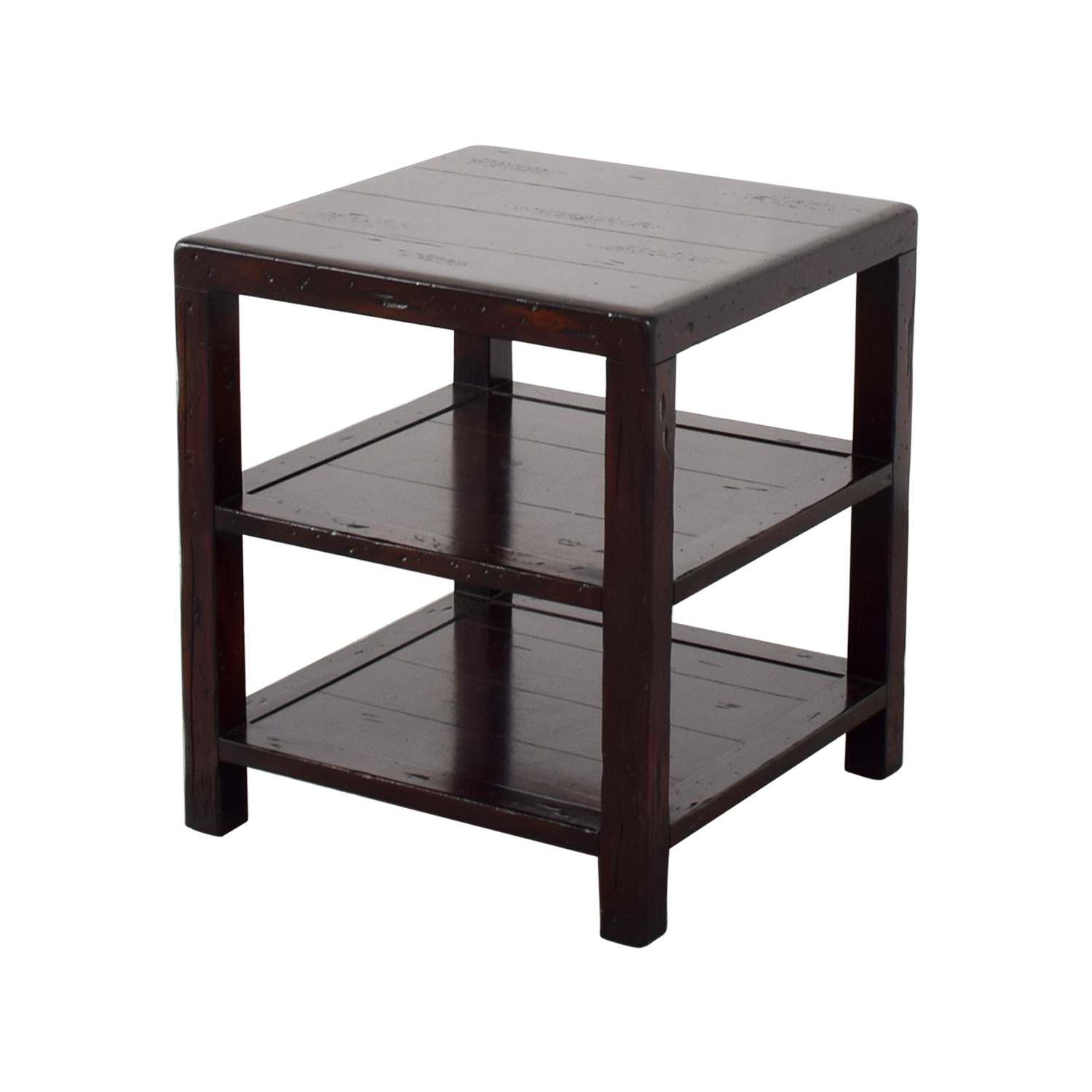 90 off pottery barn pottery barn square side table tables. Black Bedroom Furniture Sets. Home Design Ideas