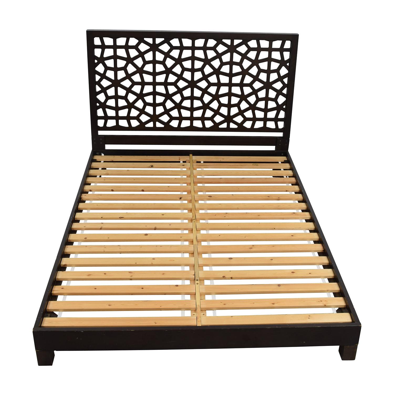 69% OFF - West Elm West Elm Morocco Queen Bed Frame / Beds