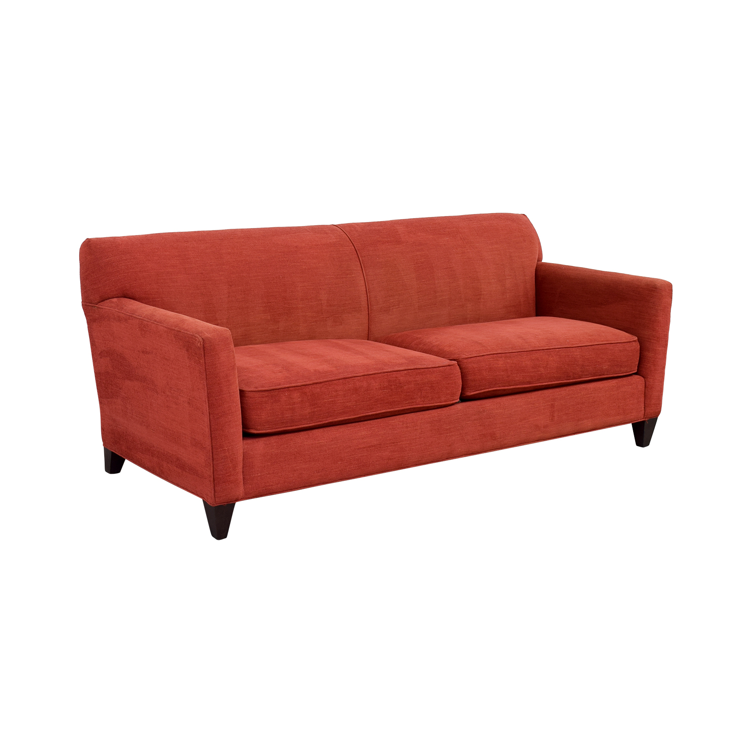 56 off crate barrel crate barrel cardinal red hennessy sofa sofas Red sofas and loveseats