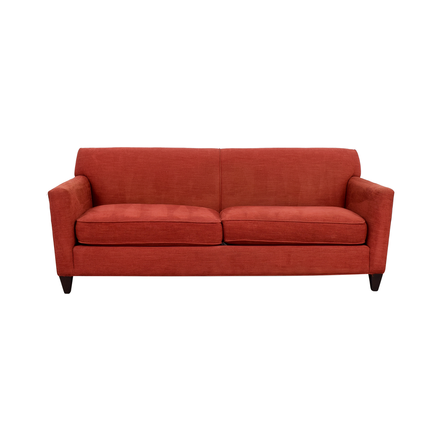 56% OFF - Crate & Barrel Crate & Barrel Cardinal Red Hennessy Sofa / Sofas