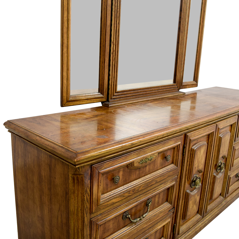 90 Off Mid Century Nine Drawer Dresser With Folding