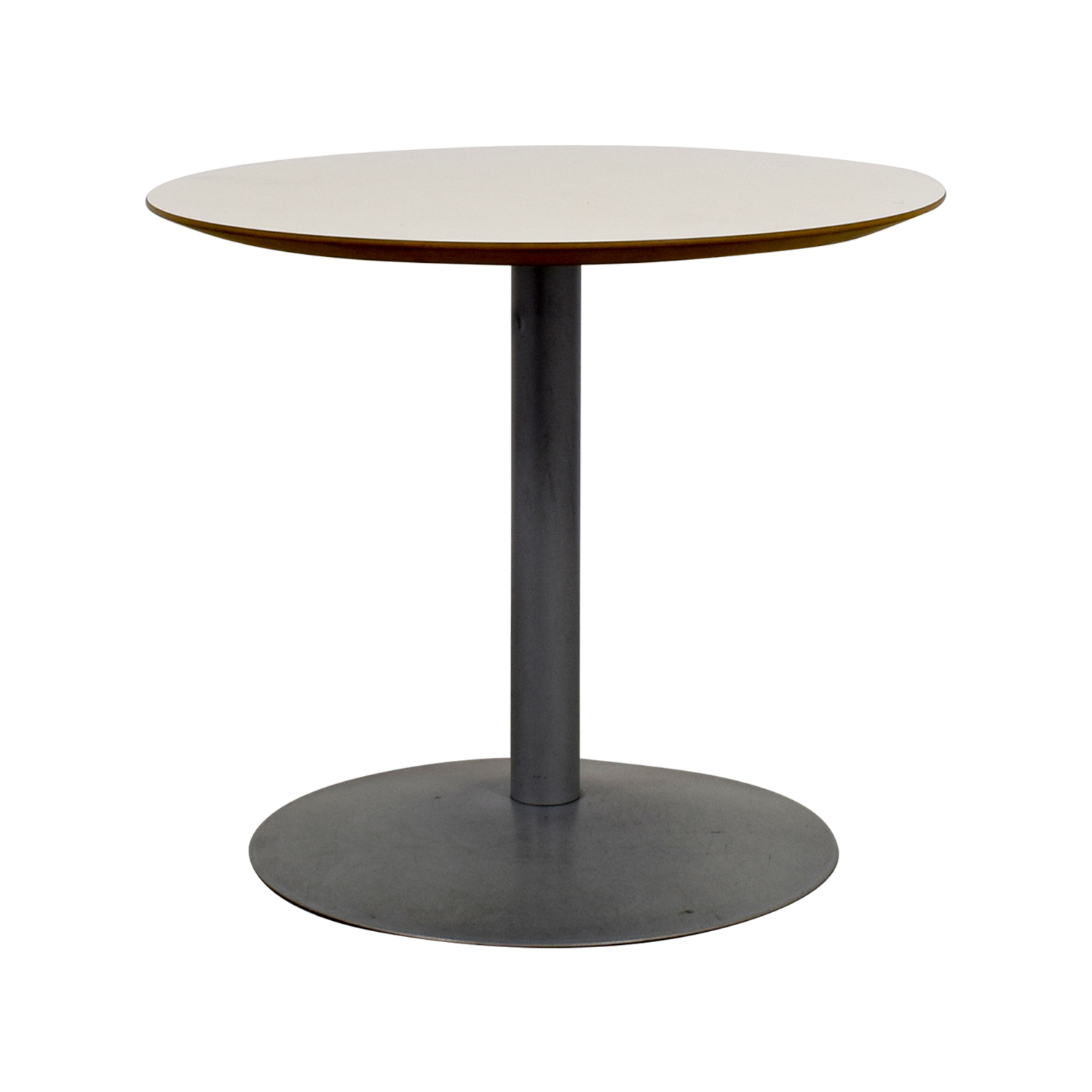 buy White Round Table with Pedestal Base Dinner Tables
