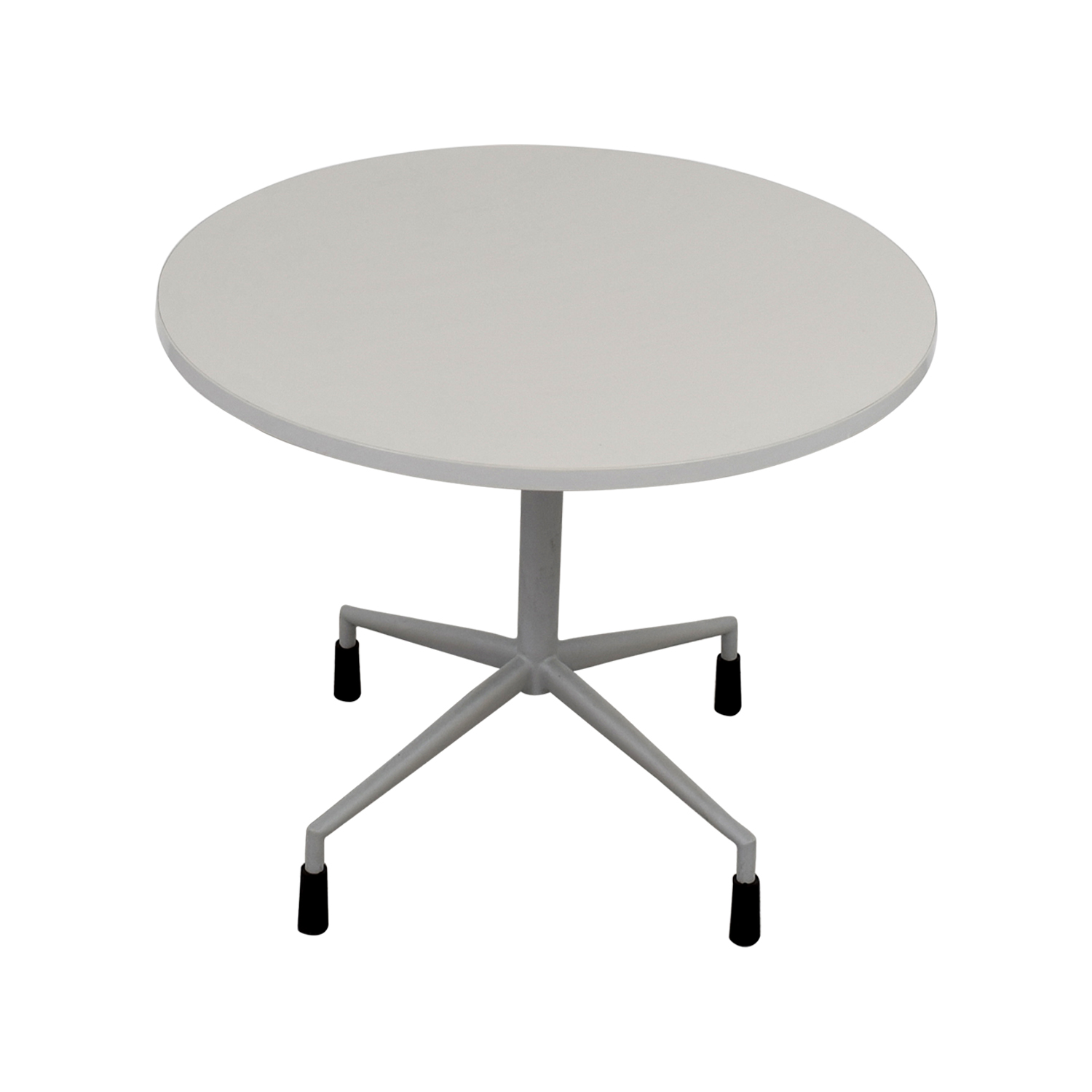 Buy White Round Table With Leg Base Online