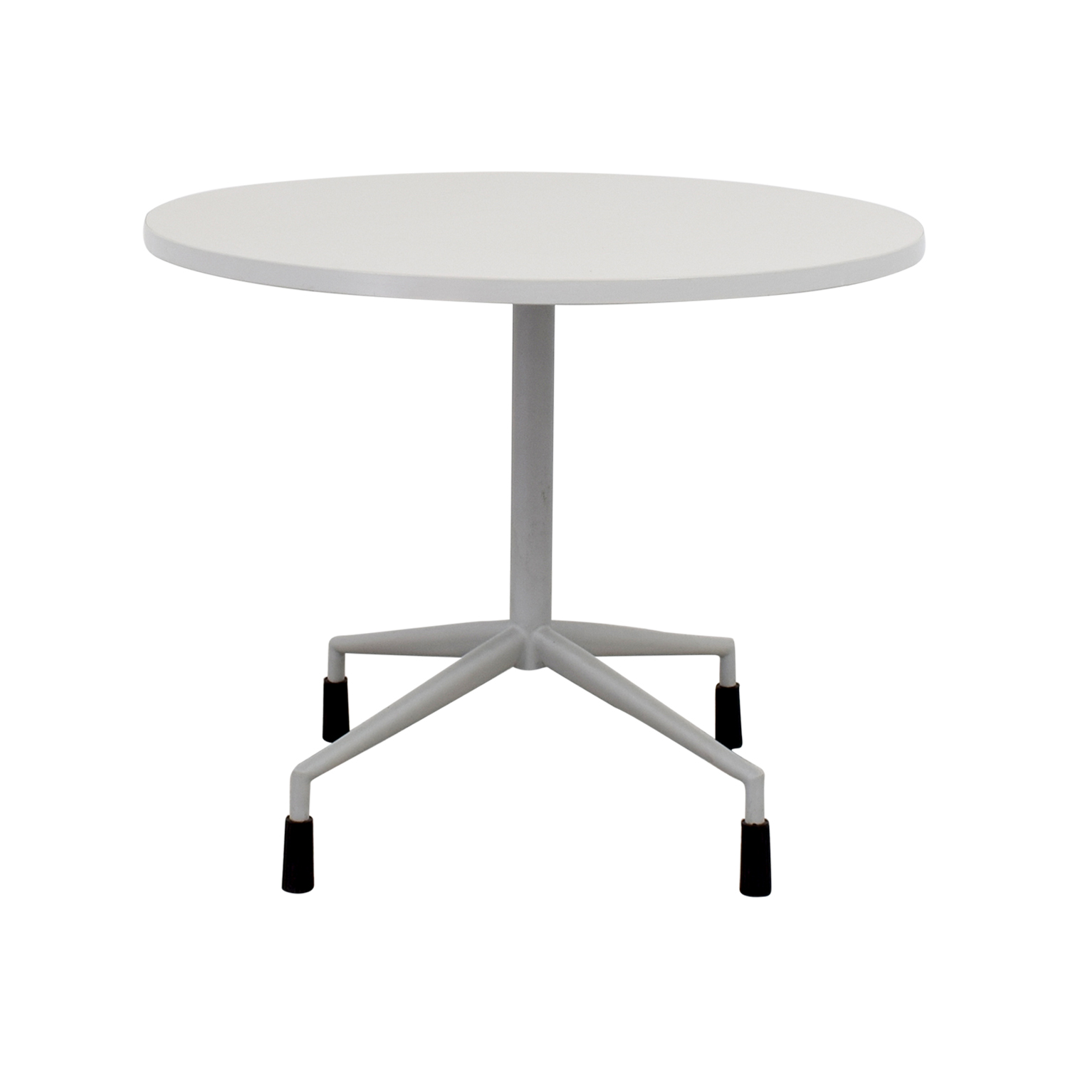 White Round Table with Leg Base dimensions