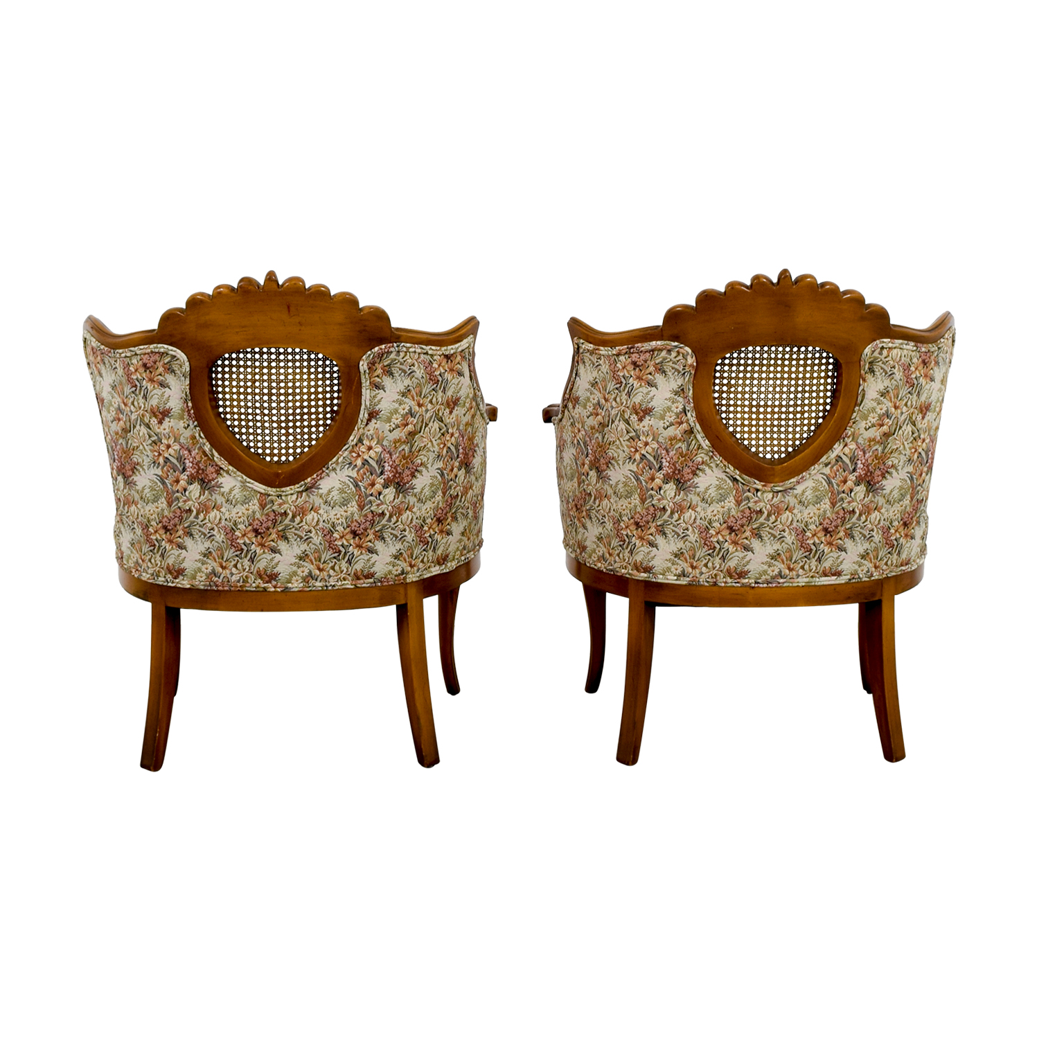 French Provincial Floral with Honeycomb Accent Chairs sale