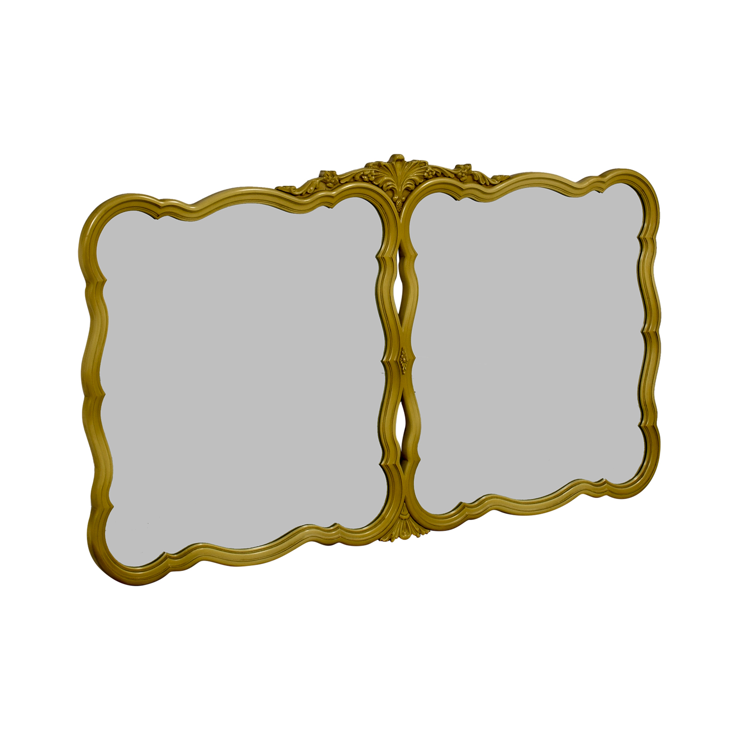Vintage Gold Framed Double Wall Mirror / Decor