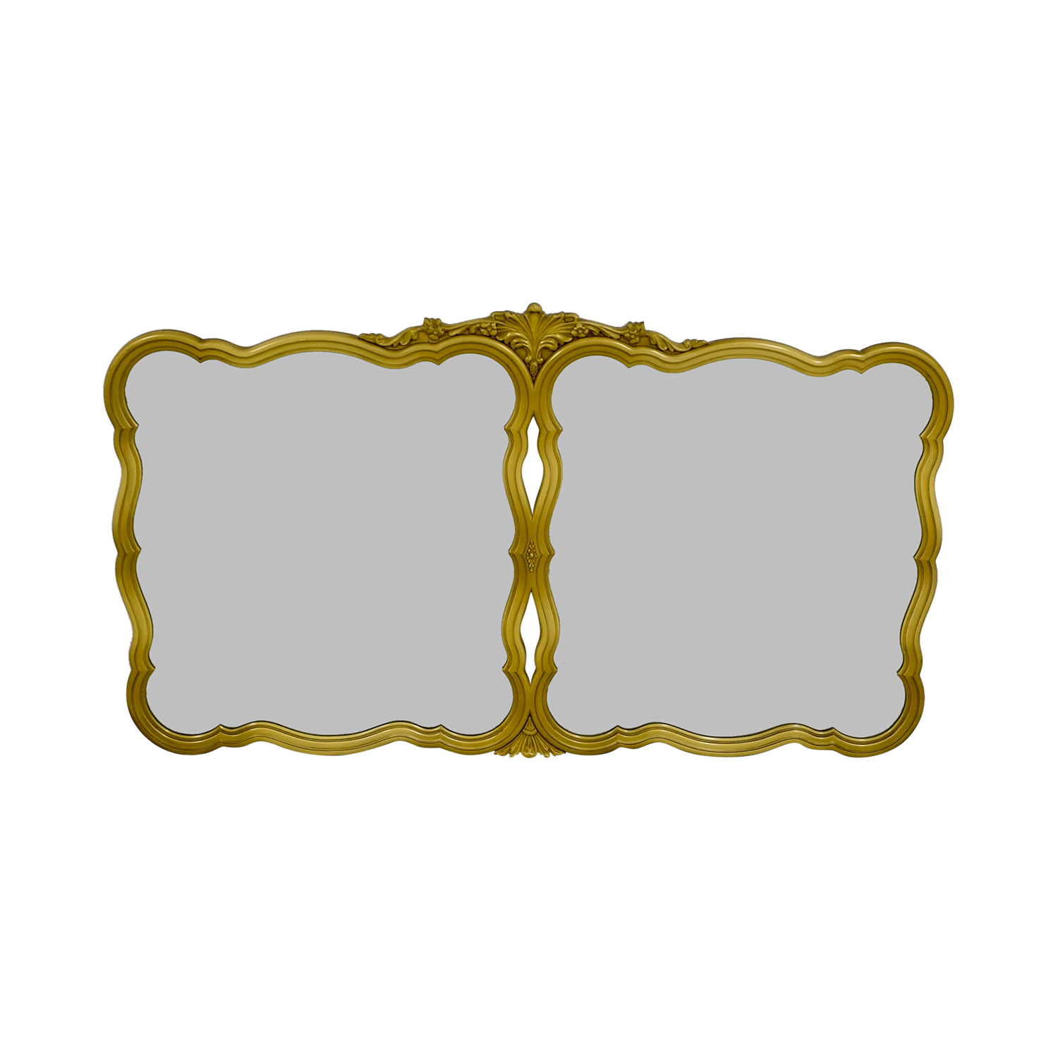 Vintage Gold Framed Double Wall Mirror nj