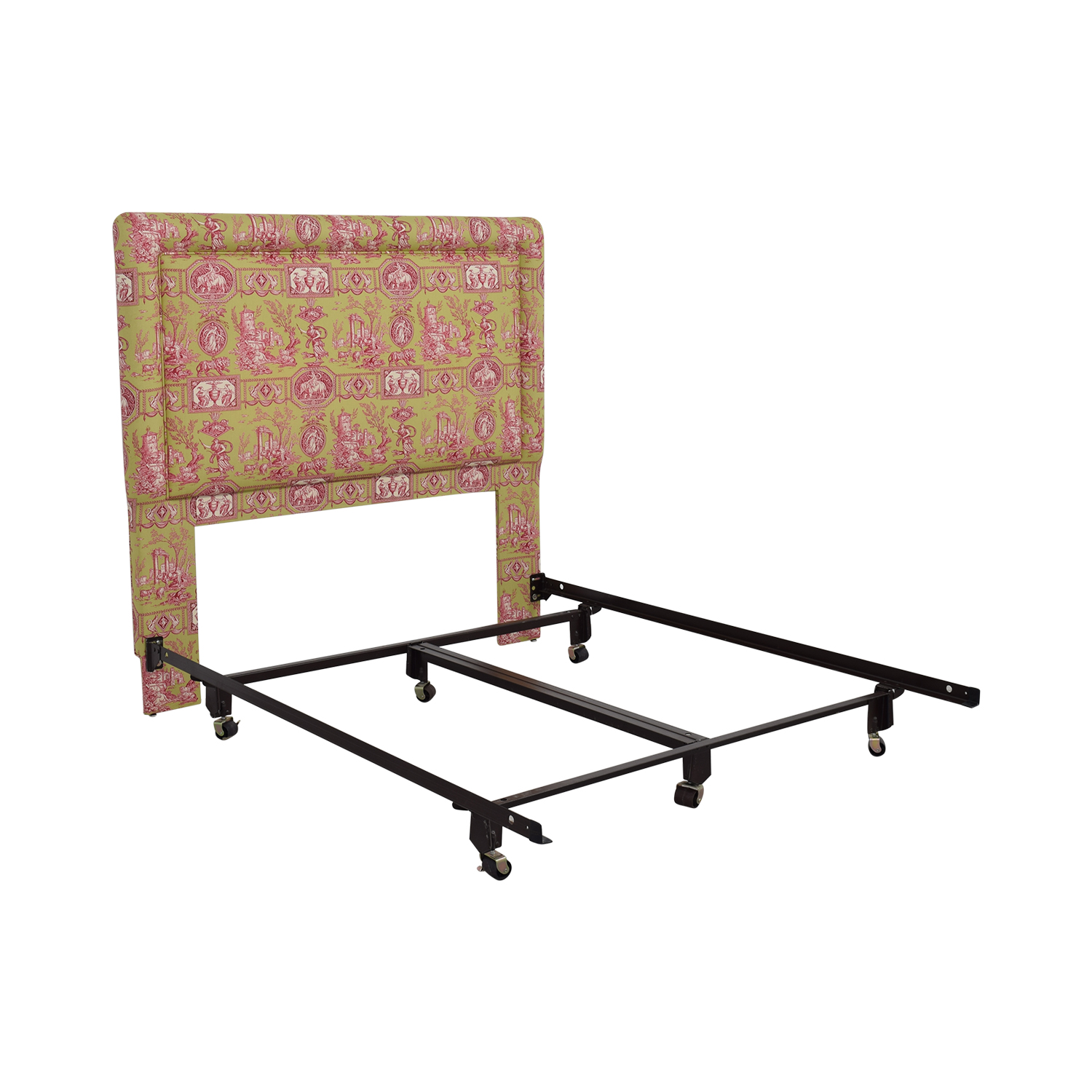 buy Green and Pink Upholstered Queen Headboard Beds
