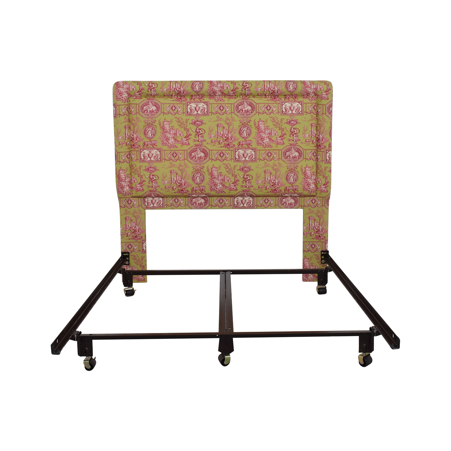 Green and Pink Upholstered Queen Headboard dimensions