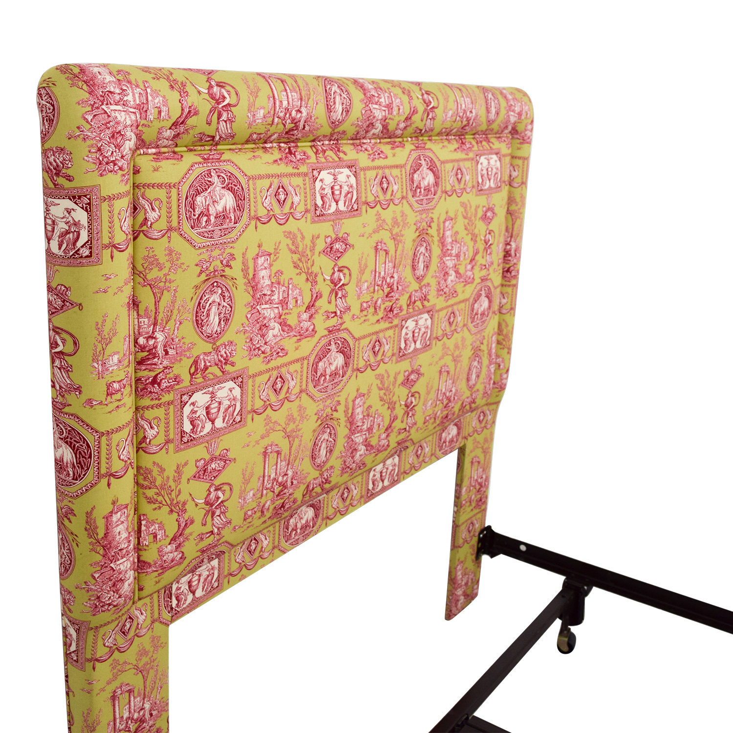 Green and Pink Upholstered Queen Headboard Headboards