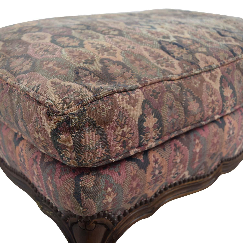 TRS Furniture TRS Furniture Floral Ottoman for sale