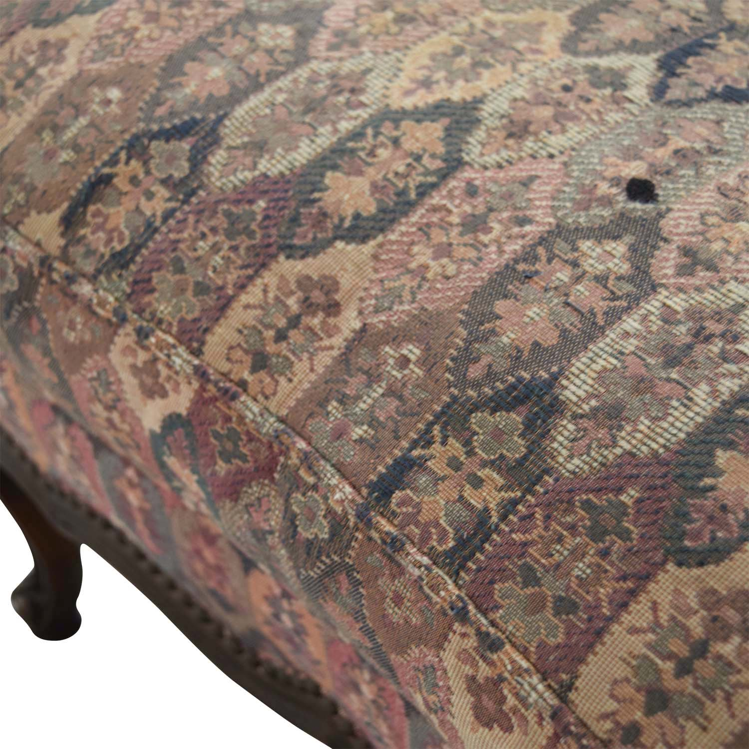 TRS Furniture TRS Furniture Floral Ottoman second hand