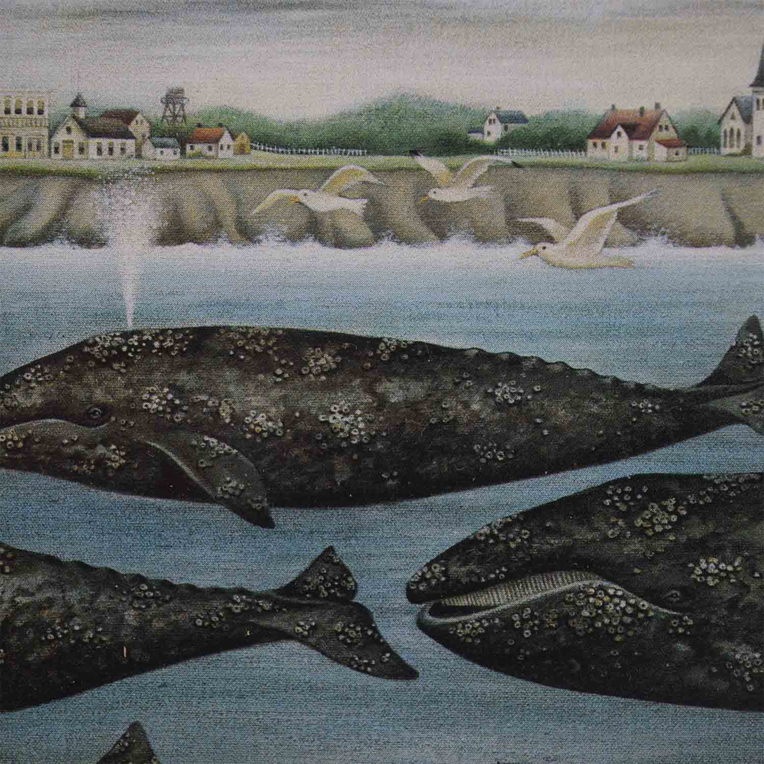 buy Portal Productions Gray Whales Lithograph Portal Productions, Ltd. Decor