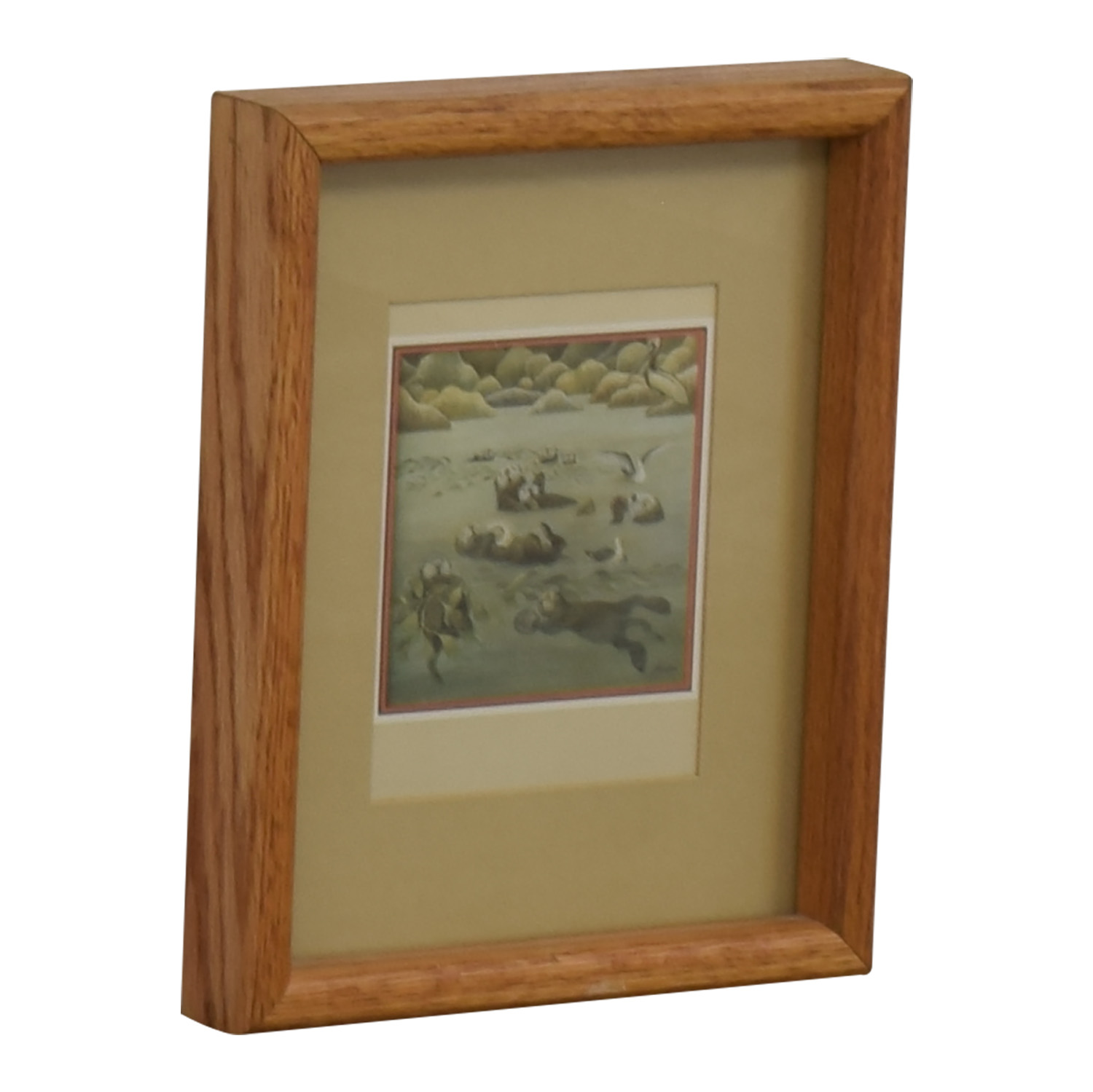 Portal Productions, Ltd. Portal Productions California Sea Otters Lithograph Brown