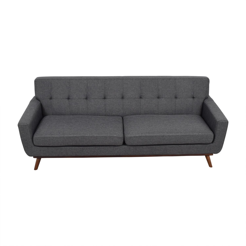 buy Inmod Charcoal Grey Tufted Lars Sofa Inmod Sofas