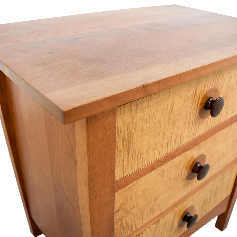 shop Stickley Three-Drawer Night Stand Stickley Tables