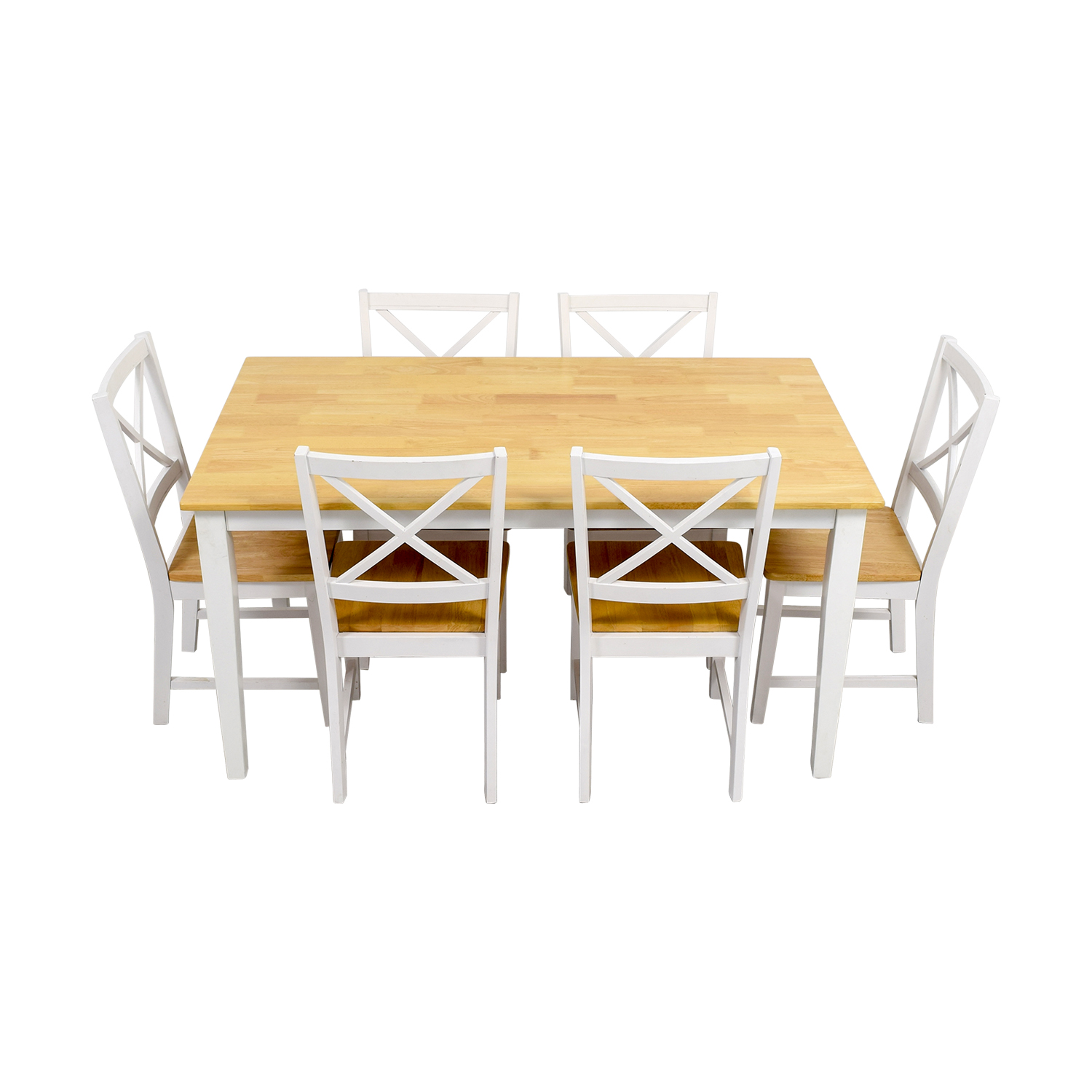 shop Beech Wood and White Dining Set online