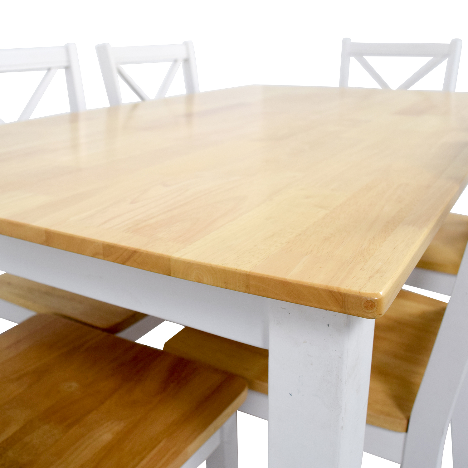 shop Beech Wood and White Dining Set Tables