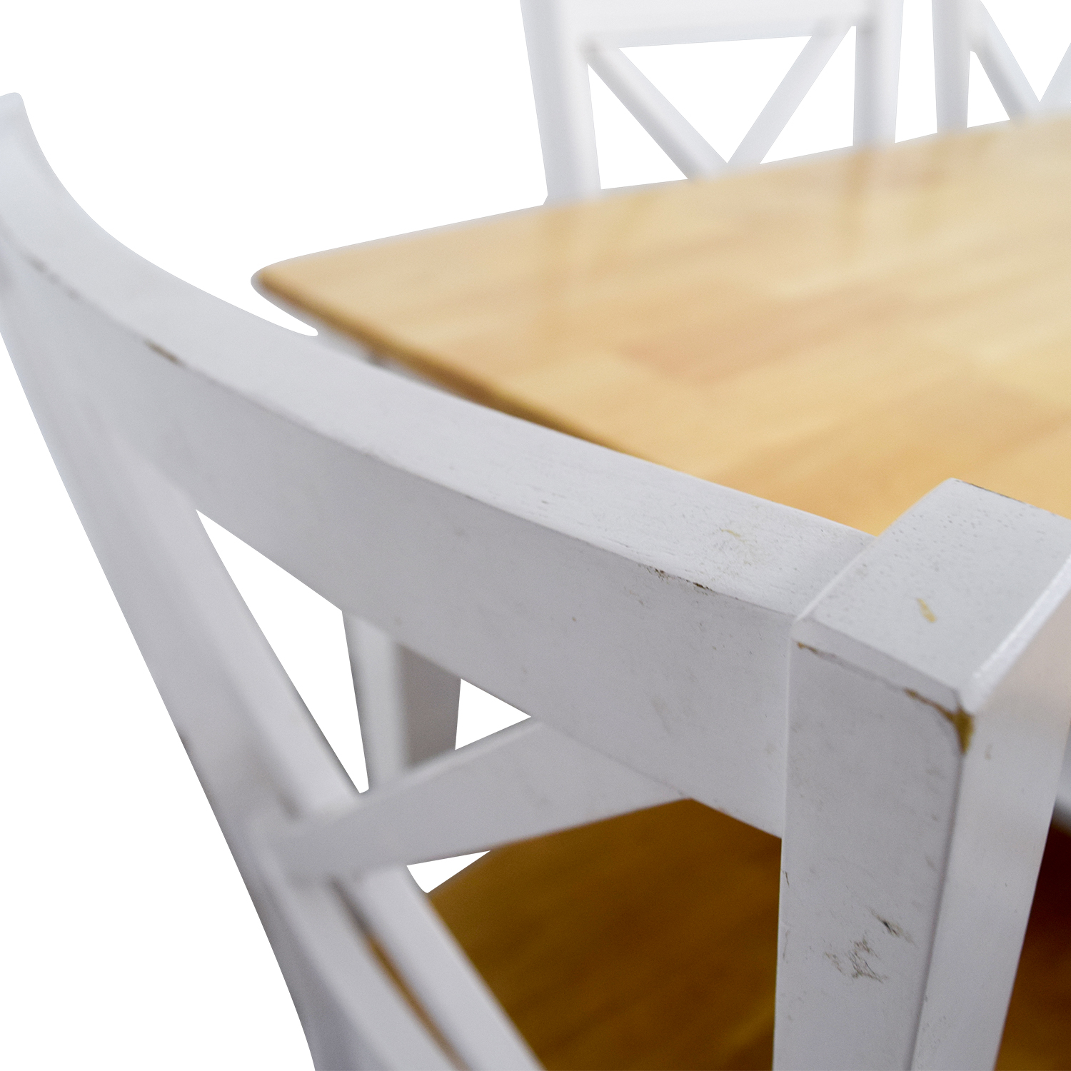 Beech Wood and White Dining Set discount