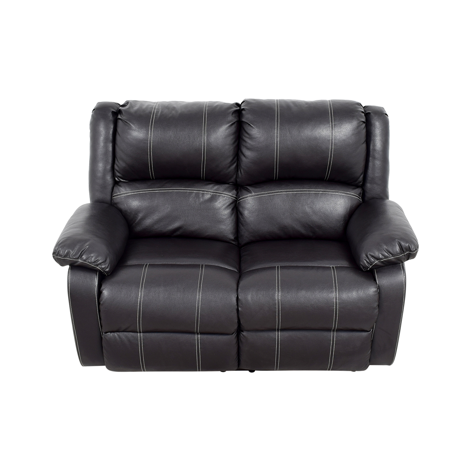 Acme Acme Black Leather Reclining Loveseat nj