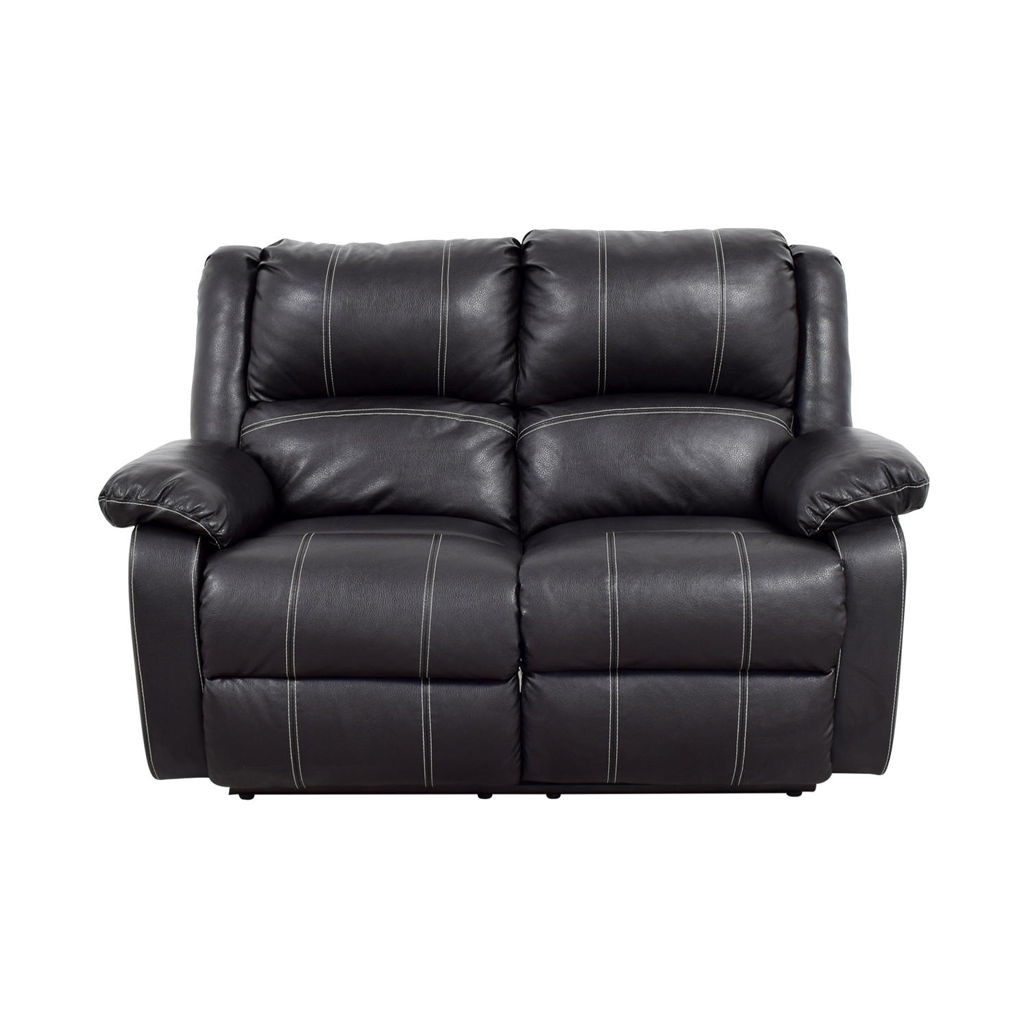 Acme Acme Black Leather Reclining Loveseat second hand