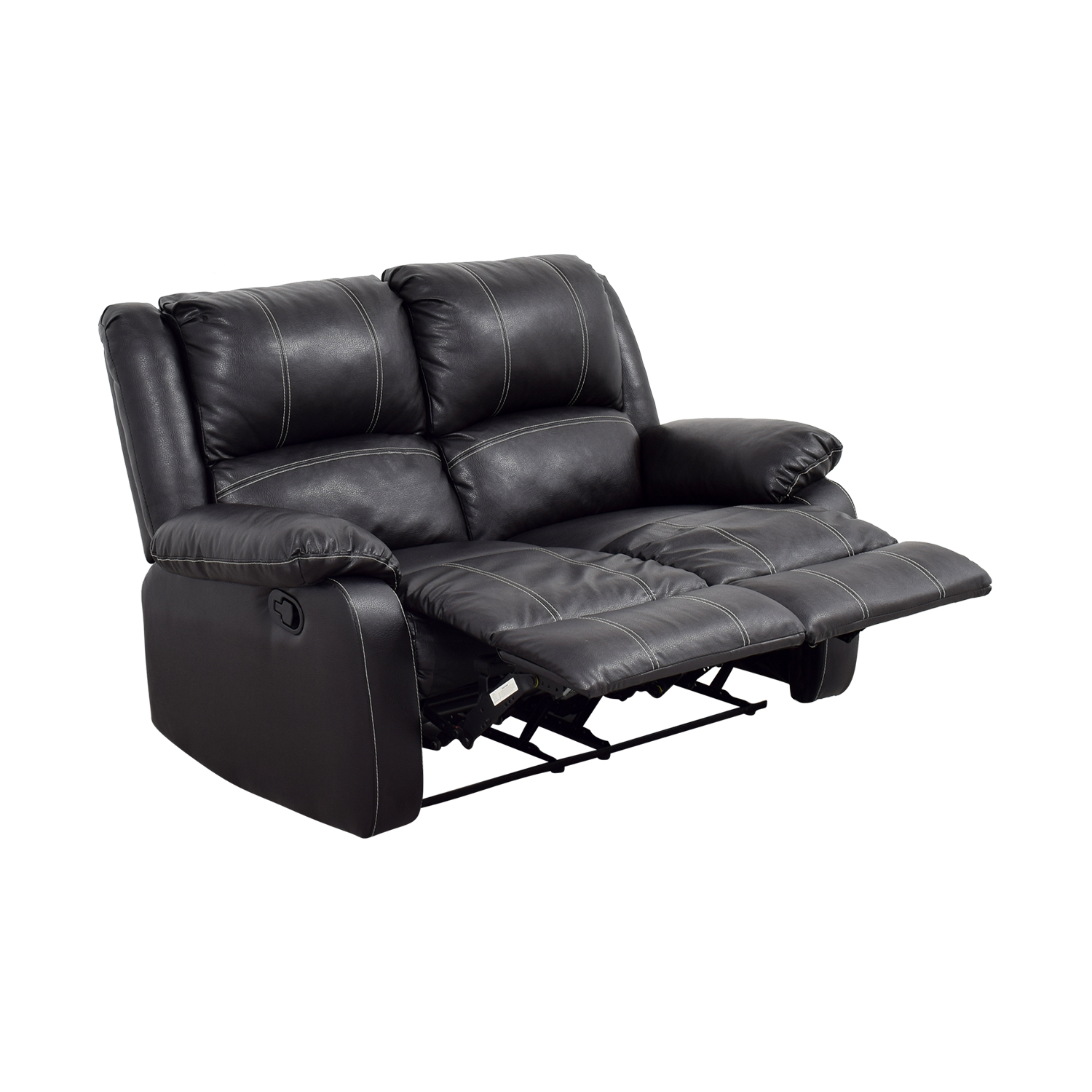 Acme Acme Black Leather Reclining Loveseat Dark Espresso